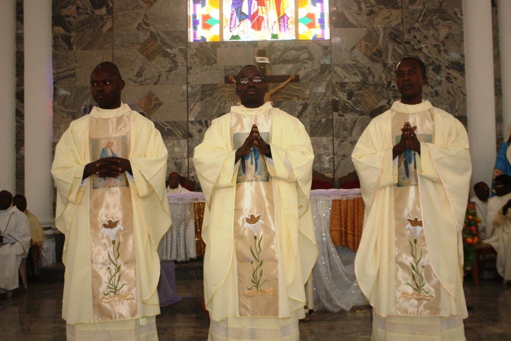 L-R Rev Fr. Mokwe Joseph, Rev Fr. Omotosho Christopher and Rev Fr. Ajibo Festus