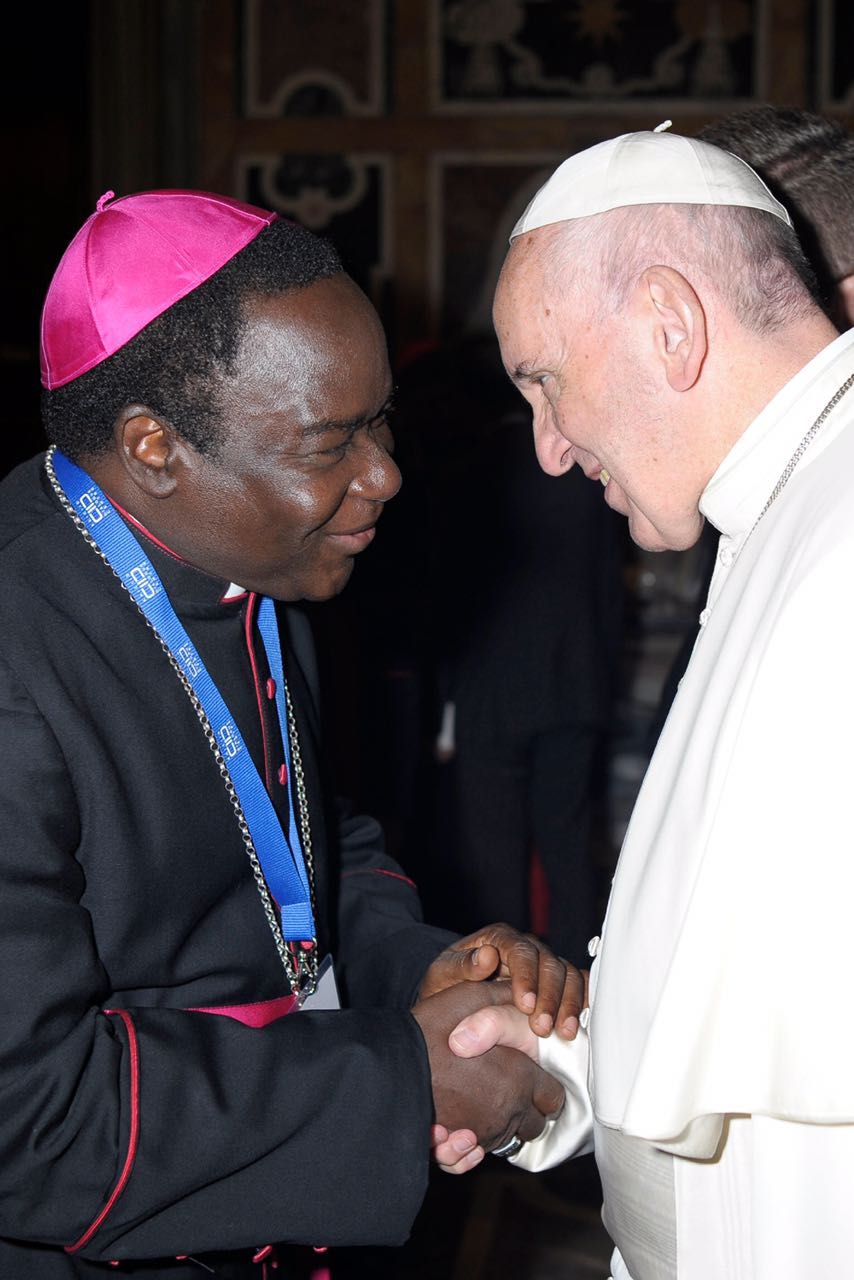 Photos bishop mathew kukah with pope francis catholic diocese of photos bishop mathew kukah with pope francis m4hsunfo Image collections
