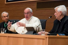 Be 'men for others', not wrapped up in clericalism, Francis tells Jesuits